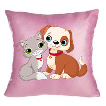 Printed glittery cushion cover in beautiful pink colour
