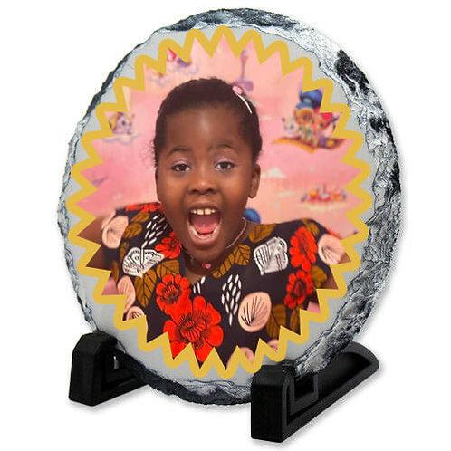 Personalised Photo Semi-Oval Rock slate