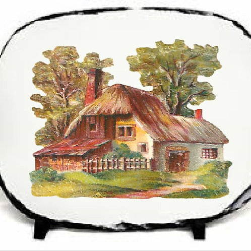 Rock Slate Printed Cottage