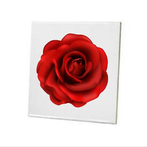 Bathroom Tiles Heat printed Red Rose Flower
