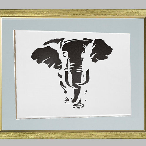African Elephant Heat Printed on Sublimation Rectangle Ceramic Tile
