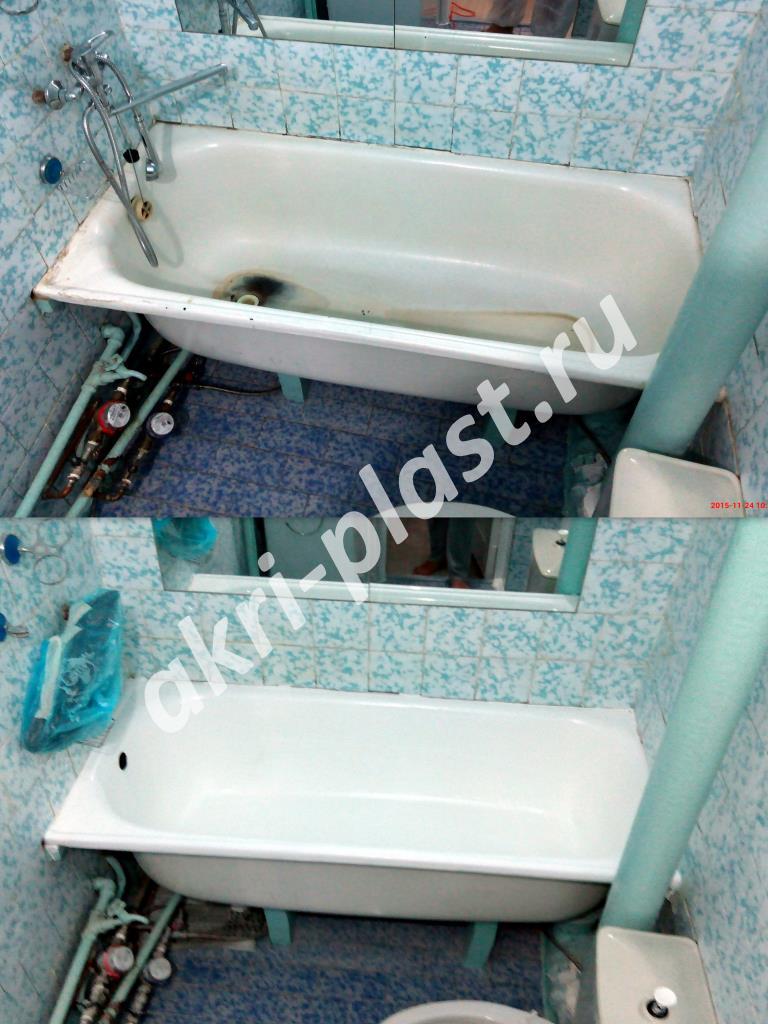 реставрация ванной акрилом в иркутск