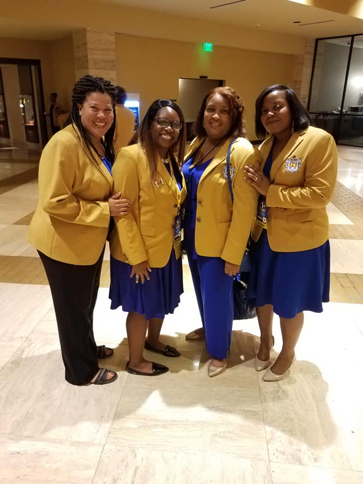 Sorors Yowell and Rhynes at Boule 2018, Dallas TX 2