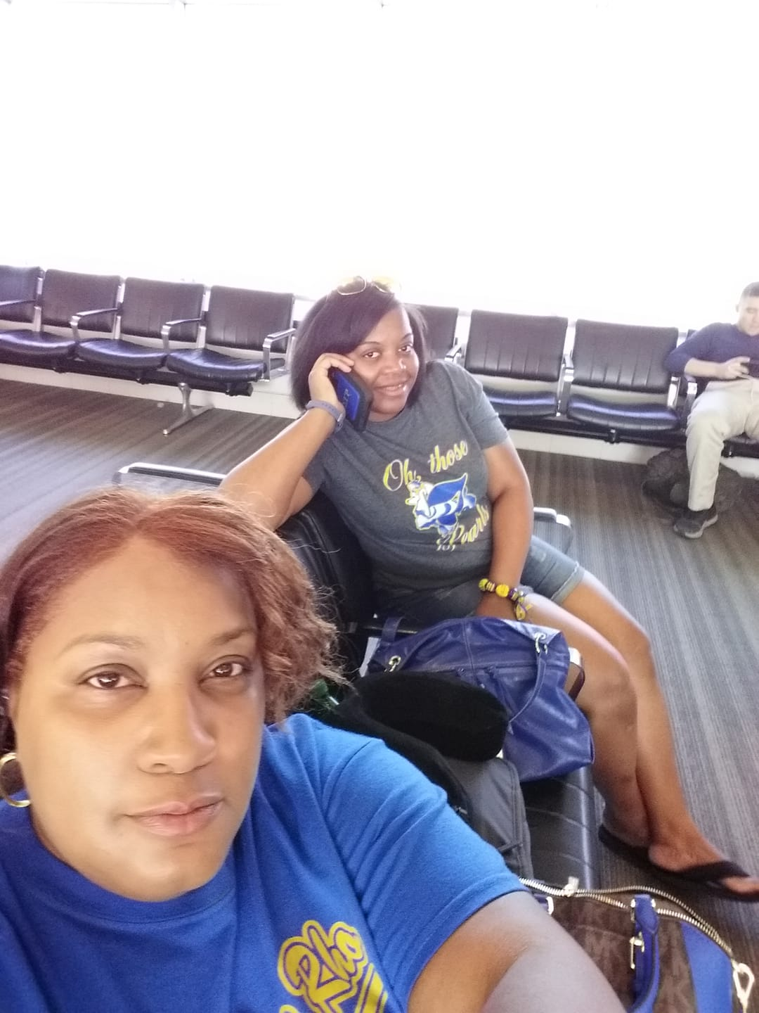 Sorors Yowell and Rhynes on the way to Boule 2018, Dallas TX