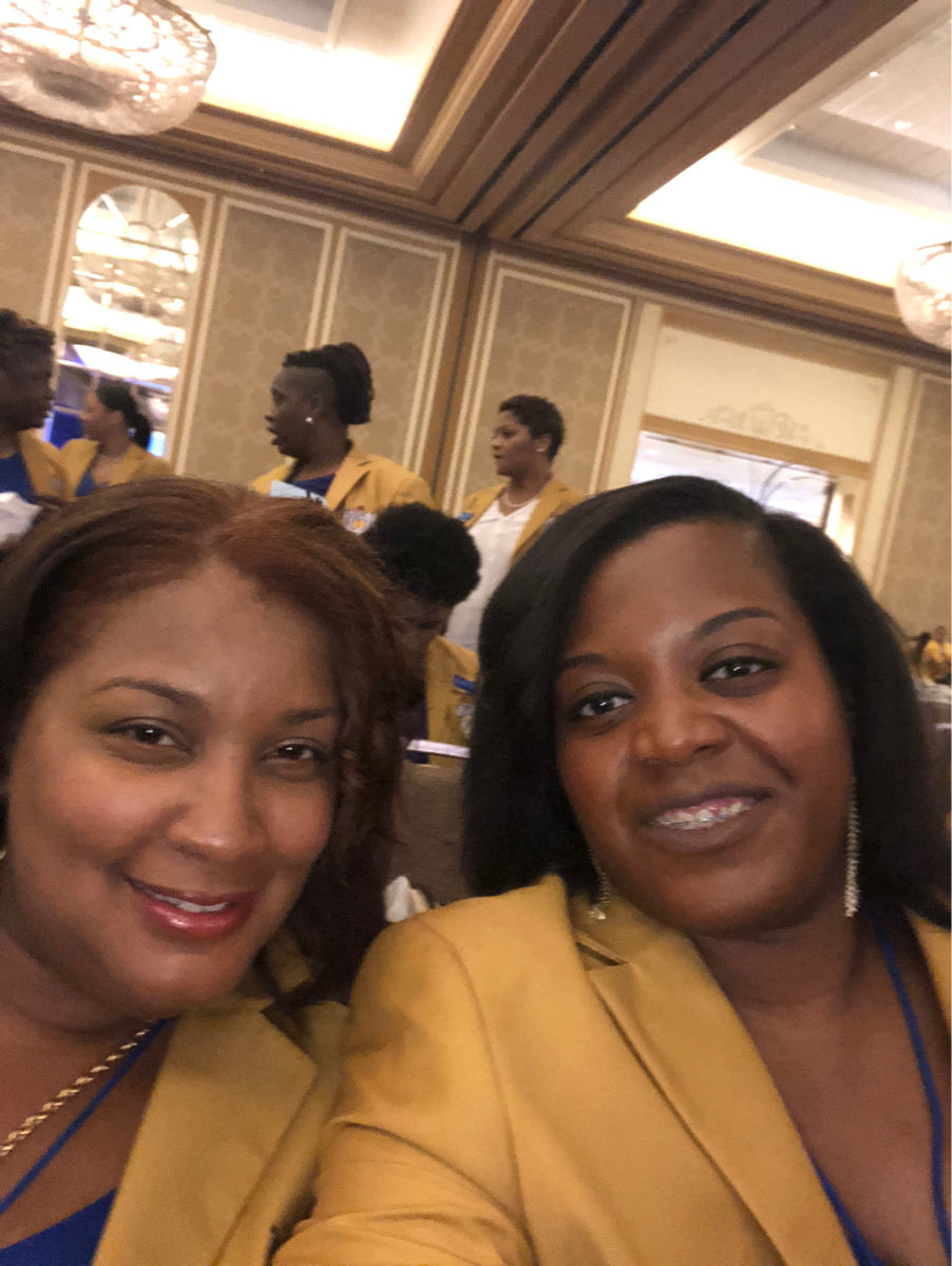 Sorors Yowell and Rhynes at Boule 2018, Dallas TX