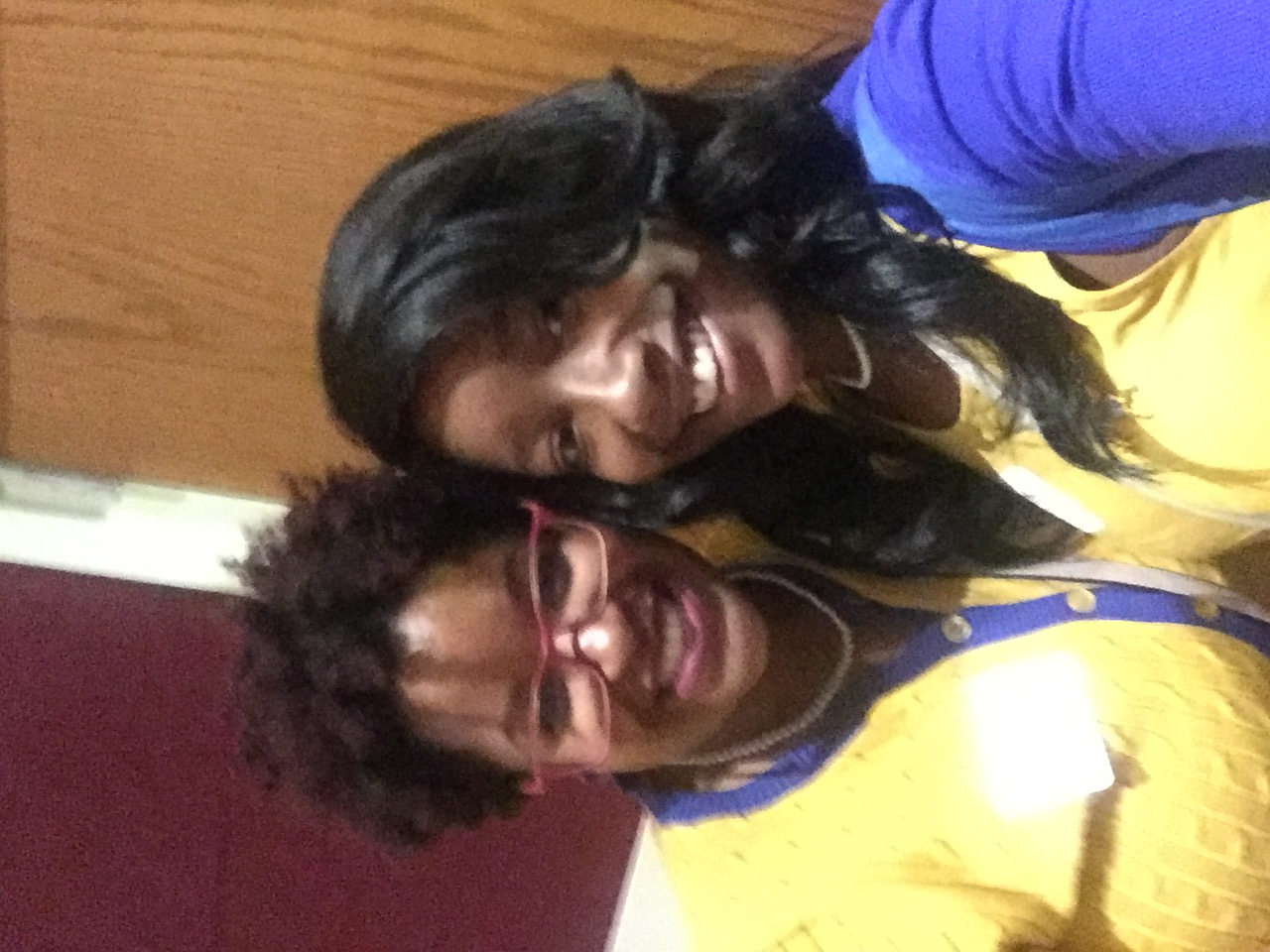 Soror and DeJanea Gray (Pi Sigma) at Area 7 Meeting Oct 08, 2016