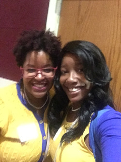 Soror and DeJanea Gray (Pi Sigma) at Area 7 Meeting Oct 08, 2016