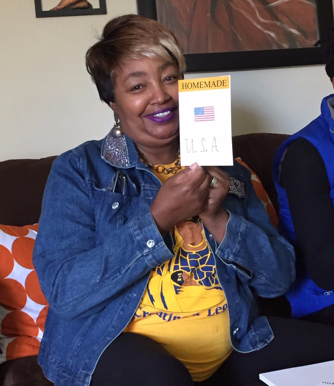 Soror Williams making VA Day cards
