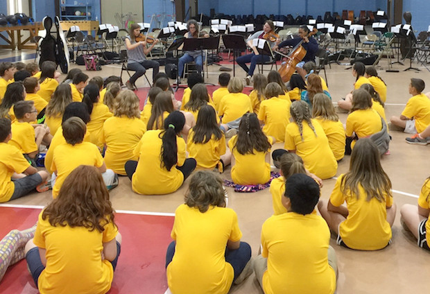 JCSO String Quartet Performs for Students