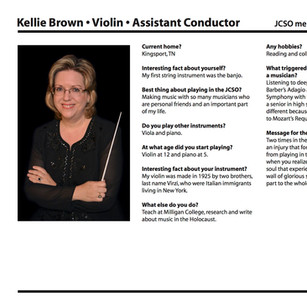 Kellie Brown, Assistant Conductor