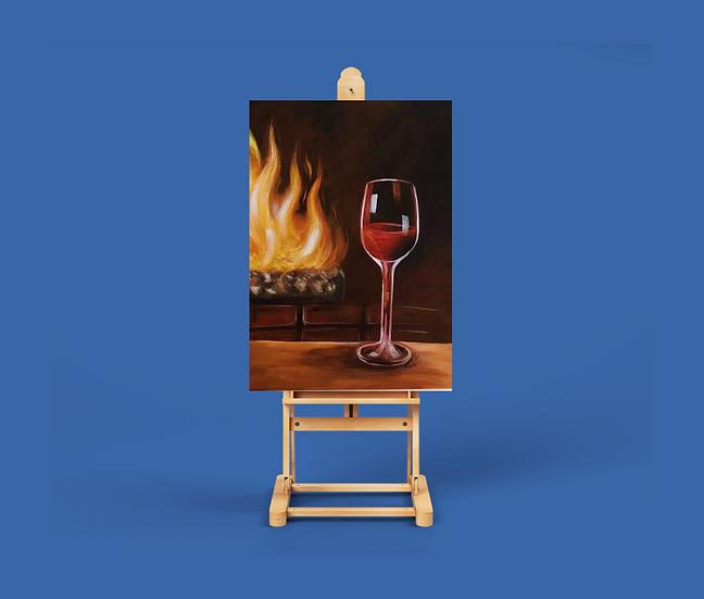 Eğitim Videosu - Fırça Sende Akrilik Boya 'Wine&Dine'