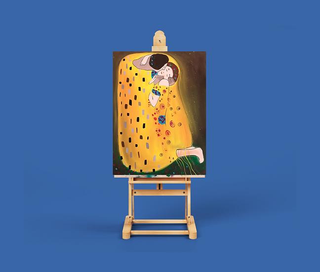 Eğitim Videosu - Fırça Sende Akrilik Boya 'Gustav Klimt-Öpücük'