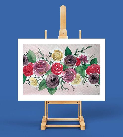 Fırça Sende Sulu Boya Kit 'Flowers'