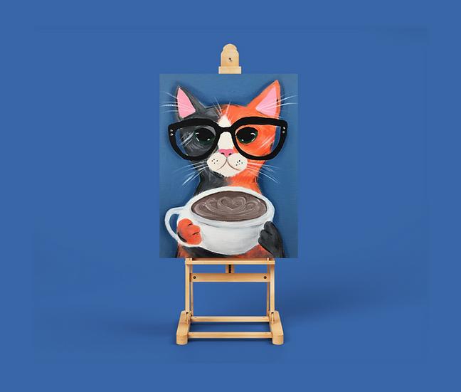 Eğitim Videosu - Fırça Sende Akrilik Boya 'Kahveli Kedi -2'