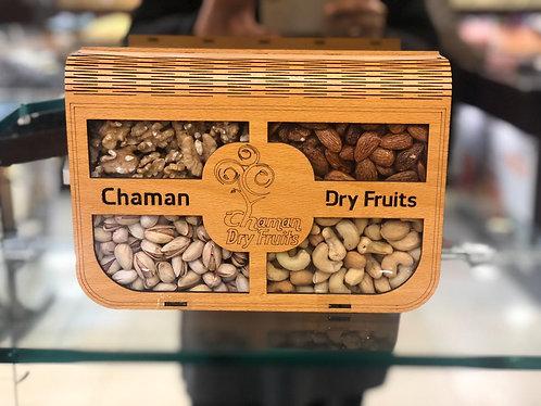 4 Items Dry Fruit Tray