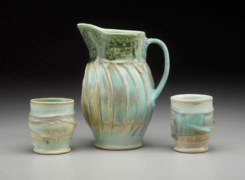 Sheila M. Lambert Pitcher with 2 Cups