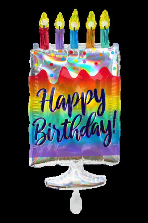 Folienballon Happy Birthday Cake