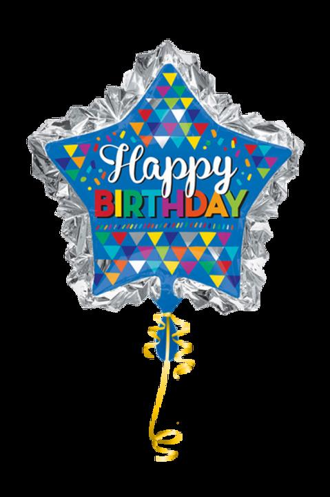 Folienballon Happy Birthady Star
