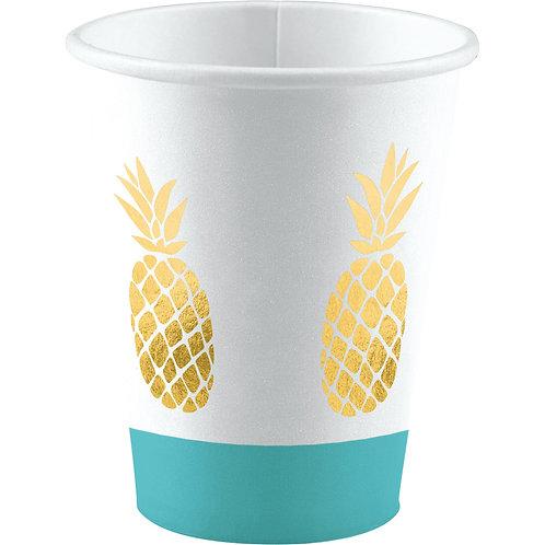 Pappbecher Hello Summer Ananas