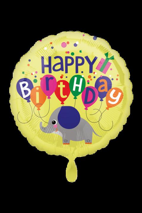 Folienballon Happy Birthday Elephant