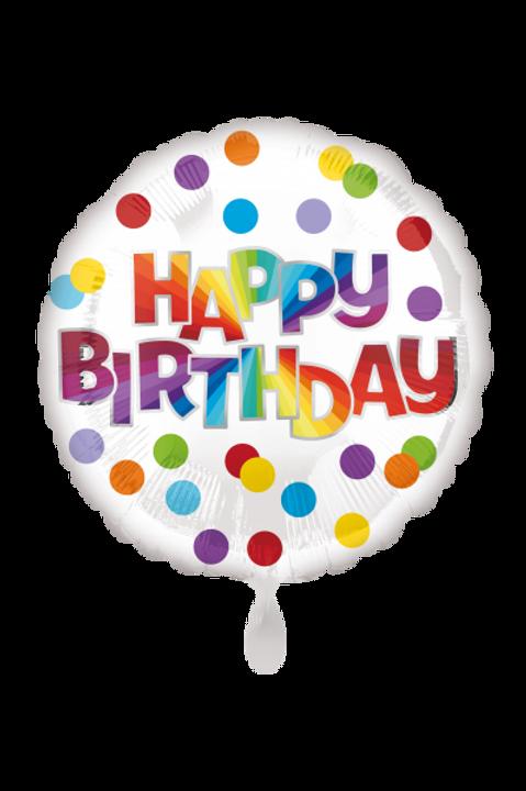 Folienballon Happy Birthday Dots