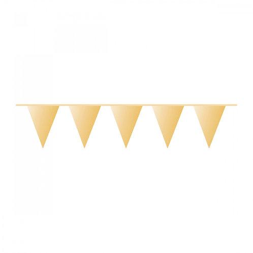 Wimpelkette Gold Plastik