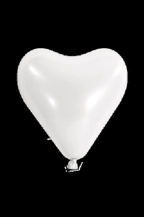 10er Pack Latexballon Herz Weiß