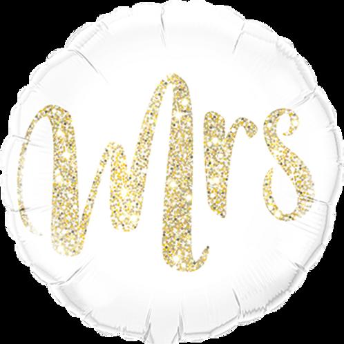 Folienballon Mrs 45cm ø