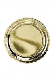 Pappteller 23cm ø Gold