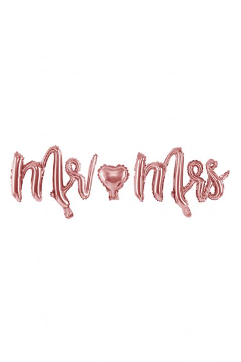 Ballon Schriftzug Mr & Mrs