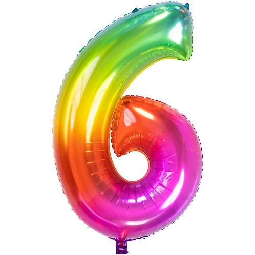 "Zahlenballon XXL ""6"" Yummy Gummy"