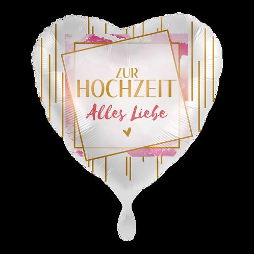 Folienballon Zur Hochzeit alles Liebe 45cm