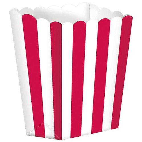 5 Popcorn Papierboxen Rot