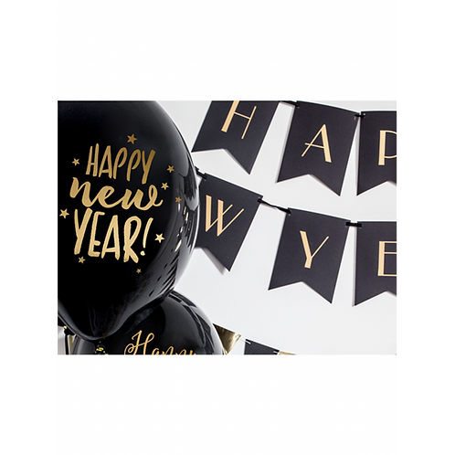 Latexballons 6er Pack Happy New Year