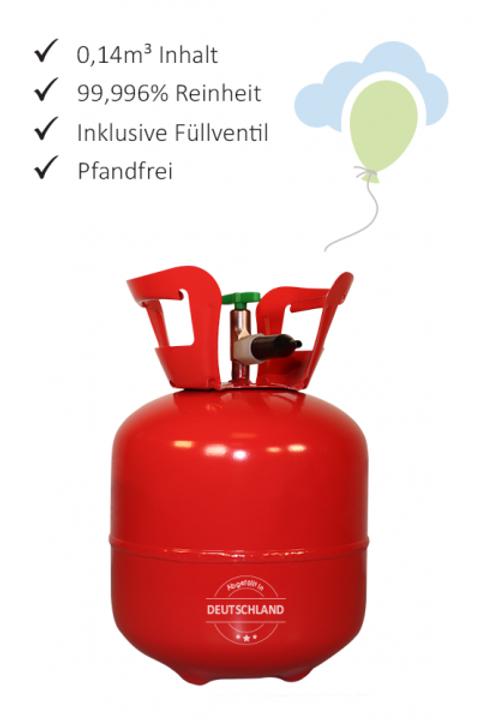 1 Heliumbehälter - 0,14m³ - Helium für Luftballons