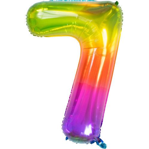 "Zahlenballon XXL ""7"" Yummy Gummy"