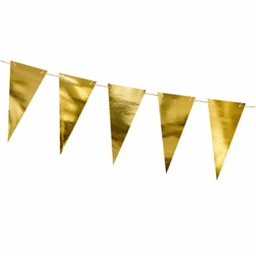 Wimpel Banner Gold