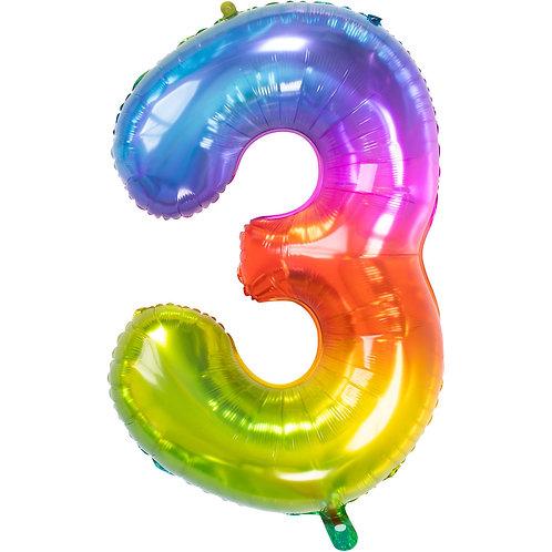 "Zahlenballon XXL ""3"" Yummy Gummy"