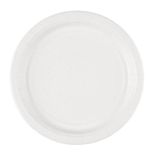 8 Pappteller Weiß