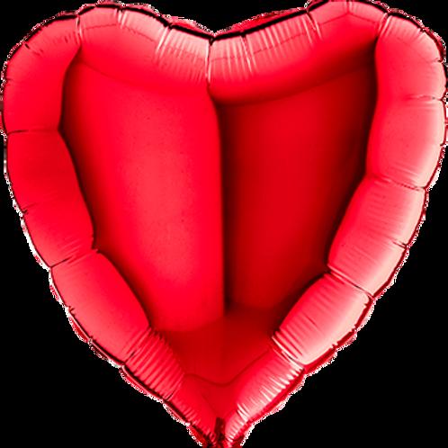 Folienballon Herz 90cm ø Rot