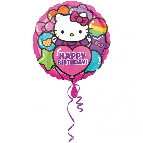 Folienballon Happy Birthday Hello Kitty