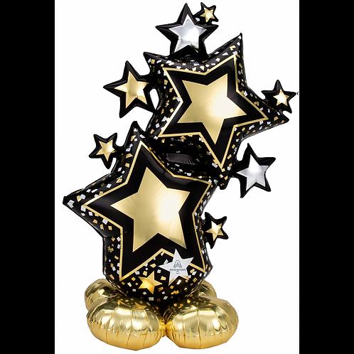 Star Cluster Gold & Black Airloonz XXL