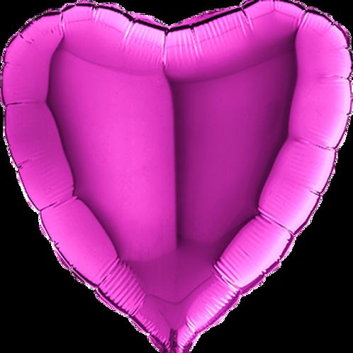 Folienballon Herz 90cm ø Lila