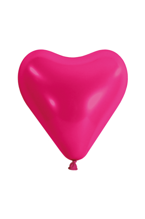 10er Pack Latexballon Herz Pink