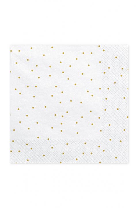 Servietten White Dots 33cm