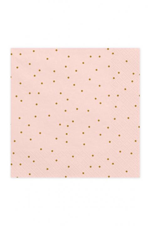 Servietten Bright Pink Dots 33cm