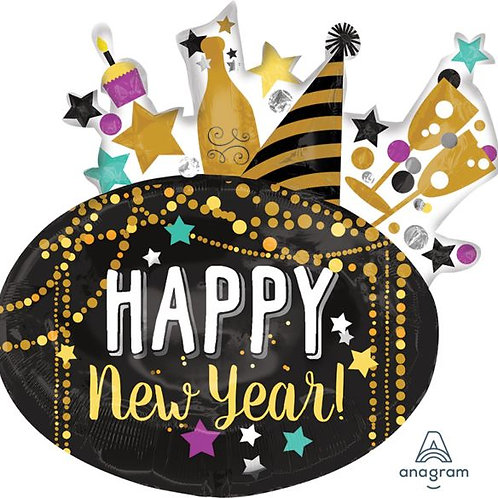Folienballon XXL Happy New Year
