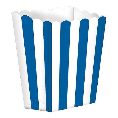5 Popcorn Papierboxen Blau