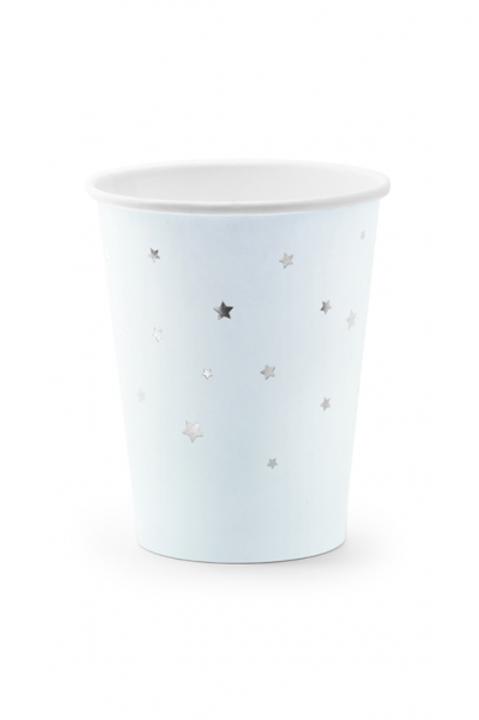 Pappbecher Stars Hellblau 260ml