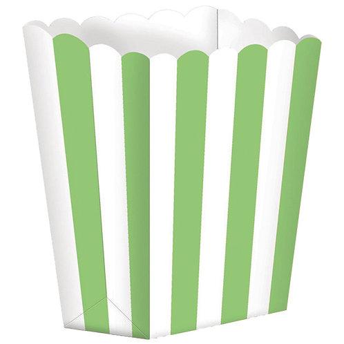 5 Popcorn Papierboxen Grün